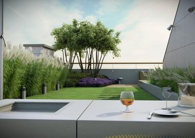 Miejsce wypoczynku na dachu