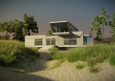 Nowoczesny dom nad morzem