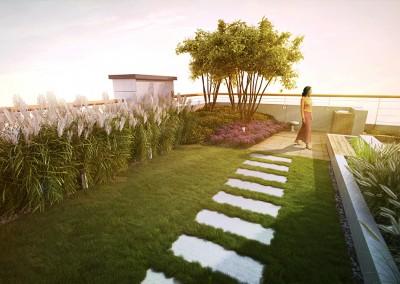 Ogród na dachu - Babice