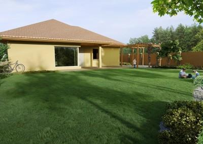 Ogród przy domu jednorodzinnym