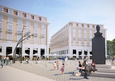 Plac Narutowicza - projektowana zabudowa