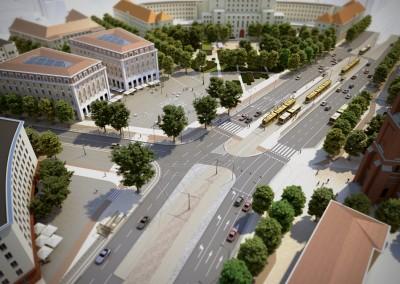 widok na Plac Narutowicza